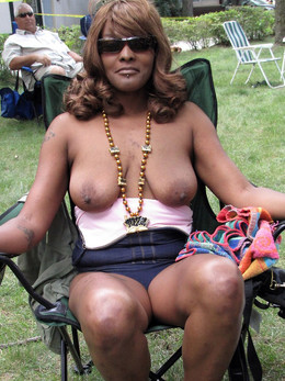 Pretty black mature totally naked at..